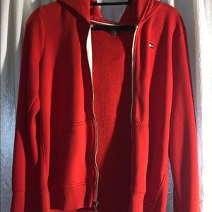 Tommy Hilfiger Red Zip up sweater